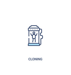 Cloning concept 2 colored icon simple line vector