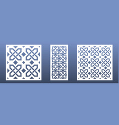 cnc laser cutpanels with abstract geometric vector image