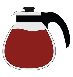 coffee maker on white background vector image