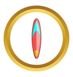 Color surfboard icon vector image