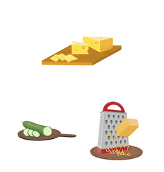 Cooking food cartoon icons in set collection for vector