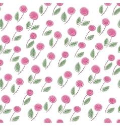 Endless rose pattern vector image