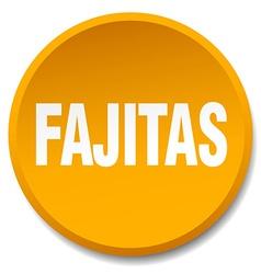 fajitas orange round flat isolated push button vector image