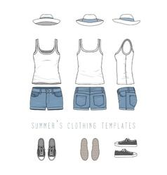 Female clothing set vector image