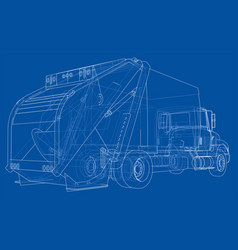 Garbage truck concept vector