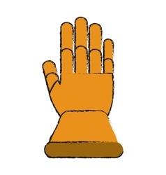 Glove of industrial security design vector