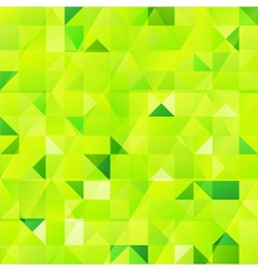 Green abstract triangles seamless pattern vector image
