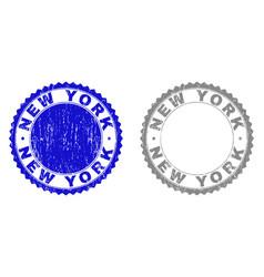 grunge new york textured watermarks vector image