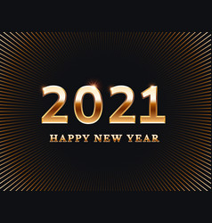 happy new year 2021 card template banner vector image