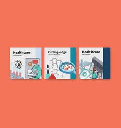 Healthcare banner design with hospitaldoctor vector