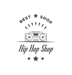 hip hop shop logotype vector image
