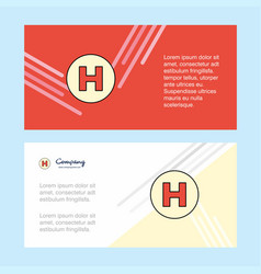 hospital abstract corporate business banner vector image
