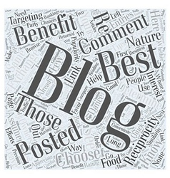 how to choose blogs to comment on to promote your vector image