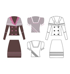 Image of a business suit vector