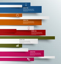 Info graphic colored striped modern template vector