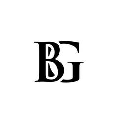 Initial bg alphabet logo design template vector