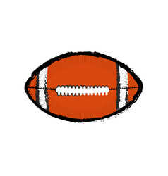 Isolated football ball icon vector