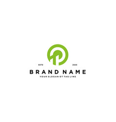 Letter p and finance design vector