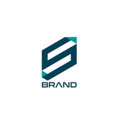 letter s initial logo design template vector image