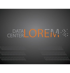 Logo design template mock up data center or IT vector