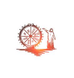 lottery casino raffle muslim arab concept vector image