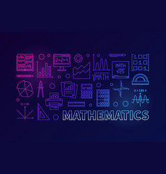 Mathematics colorful modern line vector