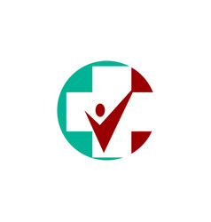 Medical health care clinic cross logo vector