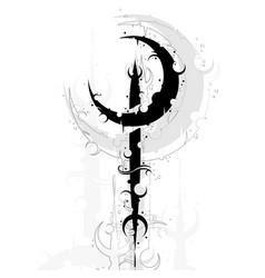 Moon symbol background vector