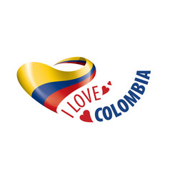 National flag colombia in shape vector