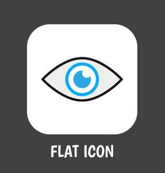 Of safety symbol on eye flat vector