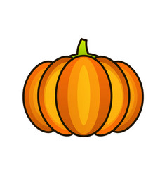 orange pumpkin sticker happy halloween vector image