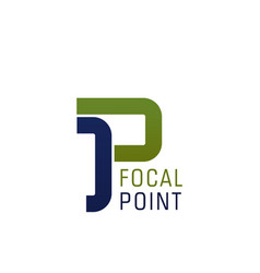 P letter icon for focal point vector