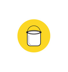 paint bucket icon house repair symbol vector image