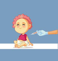pediatrician doctor vaccinating bain clinic vector image