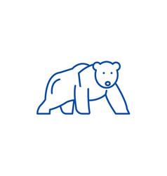 polar bear line icon concept polar bear flat vector image