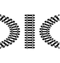 Railroad logo on white background vector