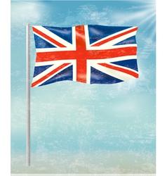 retro background with flag united kingdom vector image