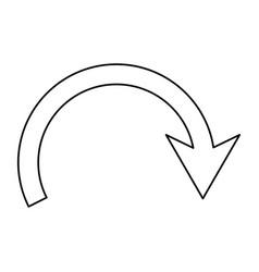 return arrow symbol vector image