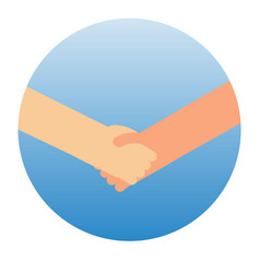Shaking hands symbol of success vector