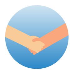Shaking hands symbol success vector