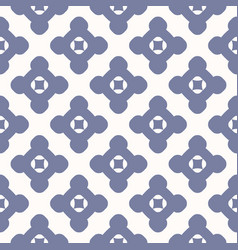 simple geometric floral seamless pattern retro vector image