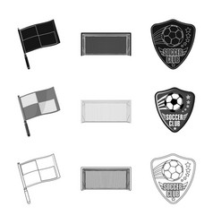 Soccer and gear icon vector