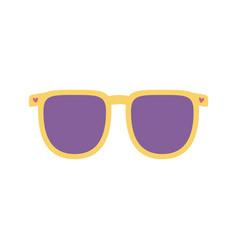 sunglasses accessory fashion icon on white vector image