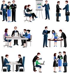 Teamwork Icons Set vector