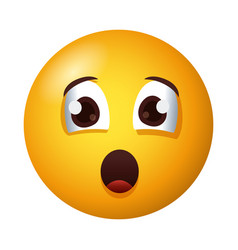 Terrified emoji face degradient style vector