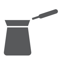 turkish cezve glyph icon coffee and cafe vector image