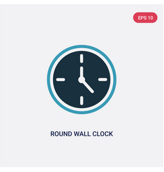 Two color round wall clock icon from user concept vector