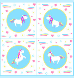 unicorns design mythological creature vector image