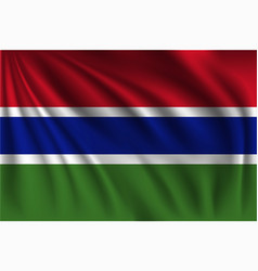 Waving gambia vector