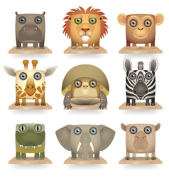 Wild animals icon set vector image